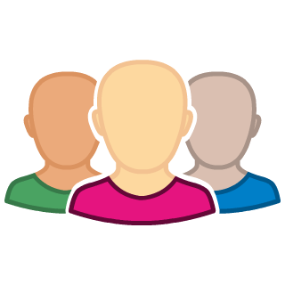 Graphic illustrating a group of users